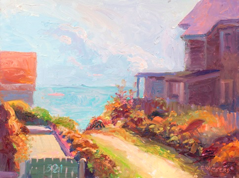 321 Commercial St, Provincetown, Oil by Timothy Chambers