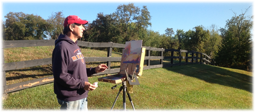 Tim painting plein air