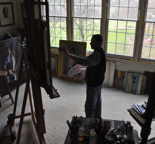 Tim at easel 6254