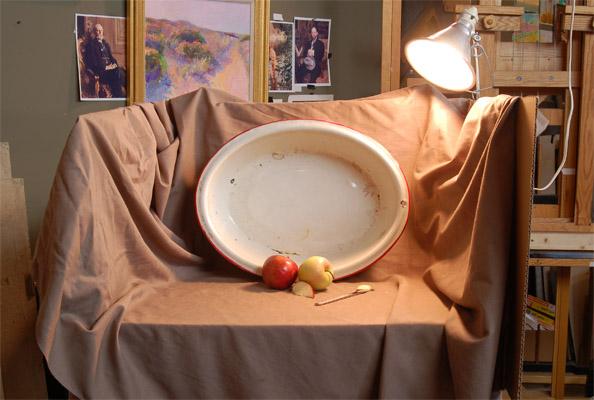 Studio Setup Home Made Easel Taboret Still Life Table